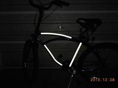 "White reflective safety bike film tape 12/""x15/"" reflector Avery 1200 vinyl light"