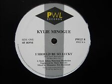 """Kylie Minogue I Should Be So Lucky 1987 UK PWL 12"""" Vinyl Single S.A.W. SAW"""