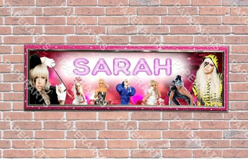 Personalized Customized Lady Gaga Name Banner Wall Decor Poster with Frame