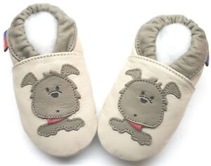 Minishoezoo-Suave-Suela-Cuero-Nino-Zapatos-Perro-Beige-4-5-Anos