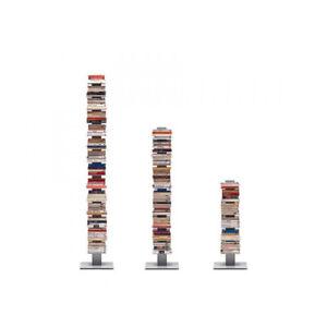 Libreria-Sapiens-moderna-a-colonna-in-metallo-in-diverse-misure-e-colori