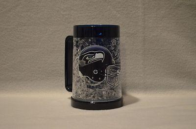 SEATTLE SEAHAWKS FREEZER BEER MUG New 16 oz Blue - Great Gifts for NFL Fans