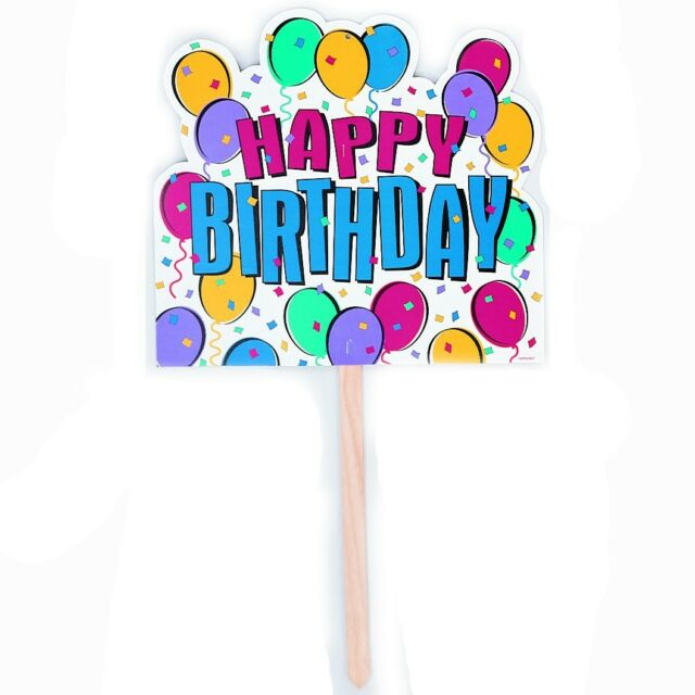 15 X 16 Happy Birthday Garden Lawn Yard Sign Party Decoration