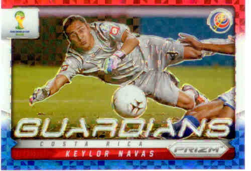 2014 World Cup Prizm Red White Blue Guardians No.8 K. NAVAS COSTA RICA