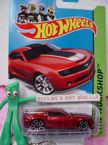 case D 2014 i Hot Wheels 2013 CHEVY CAMARO SPECIAL EDITION #202 ✿Red✿HW Garage