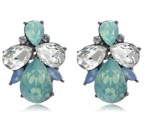 1 Paire Élégant Multi cristal Strass Ear Drop Dangle Stud Long Boucles D/'oreilles 097