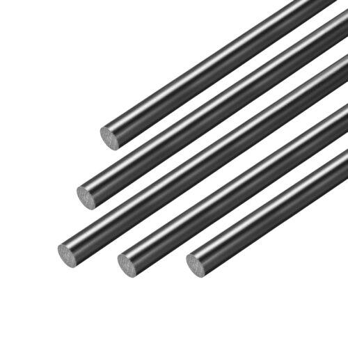 1.5mm Dia 50cm Length Black Engineering Round Bar 5pcs FRP Fiberglass Round Rod