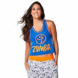1e07f2a7a5 Zumba Get Loose In The City Crop Top - Surfs Up Blue Z1T01140