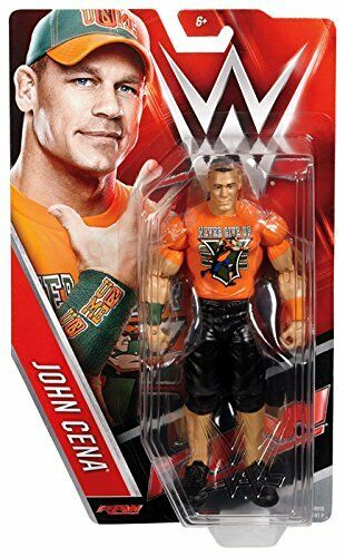 WWE JOHN CENA ENTRANCE T-SHIRT MATTEL BASIC SERIES 64 WRESTLING ACTION FIGURE