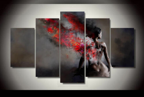 Nude Woman framed print canvas decoration 5 pieces