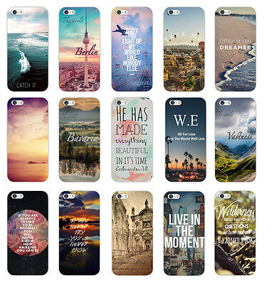 Fashion Various Pattern Hard Back Skin Case Cover For Iphone 4S 5 5S 5C 6 NEW