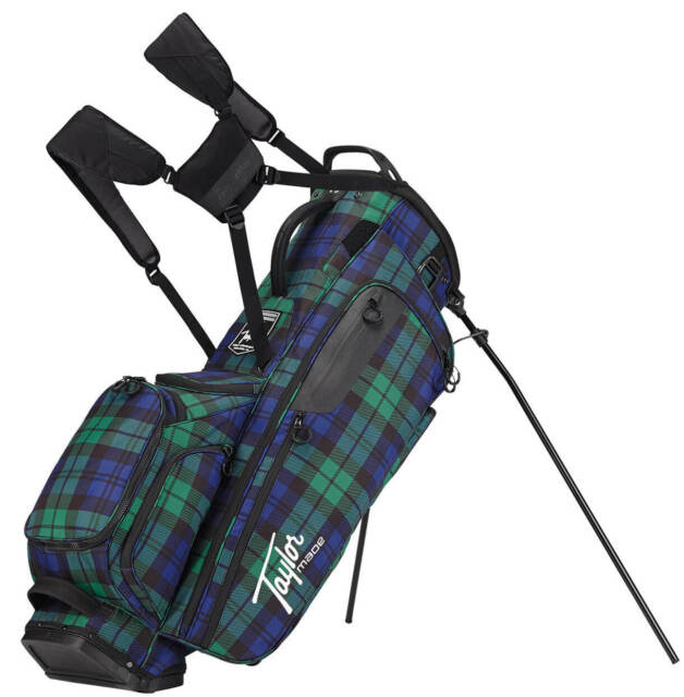 Taylormade Lifestyle Flextech Stand Bag Blue Plaid Golf Carry Clearance New