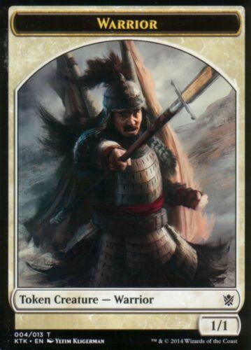 4x Warrior Token Version 1NM//MKhans of TarkirMagic MTG