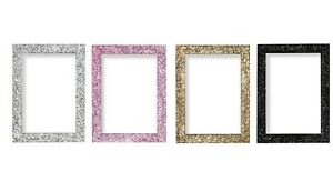 Gold Dazzle Stardust Sparkle Glitter Picture Frame Photo Frame A1 A2 A3 A4