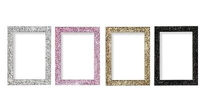 A1 A2 A3 A4 A5 Dazzle Stardust Sparkle Glitter Effect Photo Frames Poster Frames