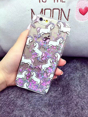 Dynamic Glitter Liquid Paillette Unicorn Phone Case Cover For Iphone 5 5S 6 6+