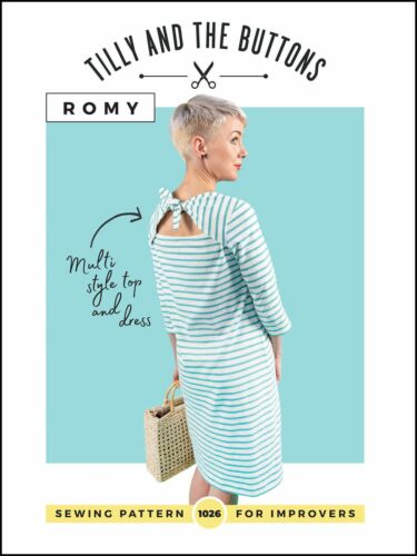 Tilly E I PULSANTI Romy top e abito Sewing Pattern facile da seguire.