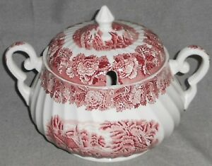 Wood-amp-Sons-ENGLISH-SCENERY-PATTERN-Soup-Tureen-SWIRL-DESIGN-Made-in-England