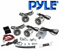 Plmca70 Boat Atv, Pwc, Motorcycle Waterproof 800-watt Amp & 4-speaker Kit Ce