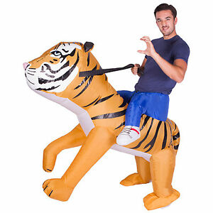 Image is loading Adult-Funny-Inflatable-Animal-Tiger-Fancy-Dress-Costume-  sc 1 st  eBay & Adult Funny Inflatable Animal Tiger Fancy Dress Costume Outfit ...