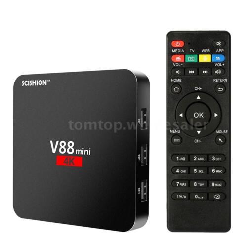 SCISHION V88 mini Quad Core 4K Android 6.0 Smart TV BOX 1G+8GB WIFI Media Player