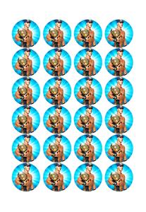 24 x Large John Cena Edible Cupcake Toppers Birthday Party Cake