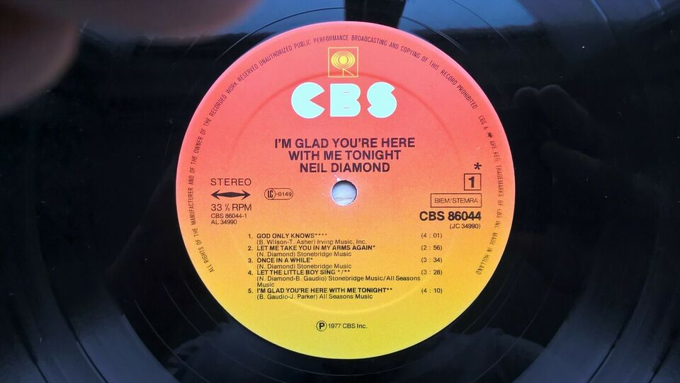 LP, Neil Diamond, I'm Glad You're Here With Me Tonight