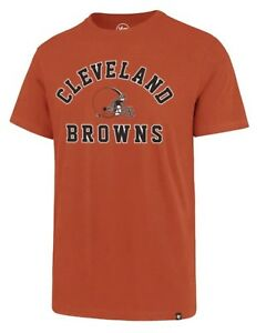 Cleveland-Browns-Men-039-s-47-Brand-NFL-Short-Sleeve-T-Shirt-Orange-S-M-L-XL-XXL