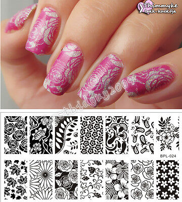 BORN PRETTY Nail Art Stamping Plate Flower Theme Image Stamp Template BP-L024
