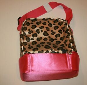 Details About New S Hanna Andersson Lunch Box Cheetah Leopard Print Pink 2 Zipper Areas