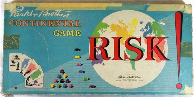 1959 Parker Bredhers Inc Risk Continental Game Family Board Game Vintage IOB