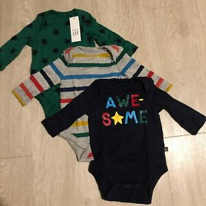 Baby-Gap-Long-Sleeve-Bodysuit-Set-0-3-Months-New-With-Tags