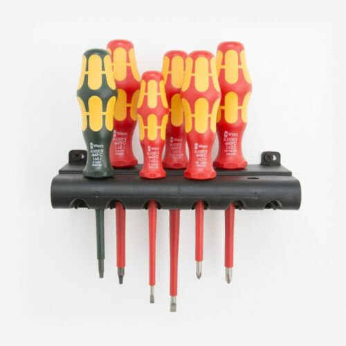 Wera 347777 VDE Insulated Slotted//Phillips//Square Screwdriver Set Rack