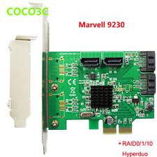 4 Ports SATA III 6GB PCI express Card PCIe to SATA3.0 SSD HDD + RAID 0 1 10 Mode