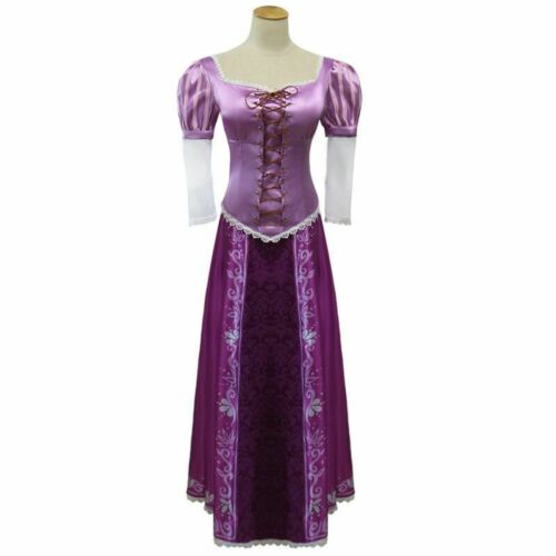 New Arrival Custom made Tangled Halloween Cosplay Princess Rapunzel Dress