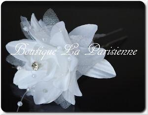 Haarnadel Blume Strass Perlen Hochzeit Braut Haarschmuck Kopfschmuck Kommunion
