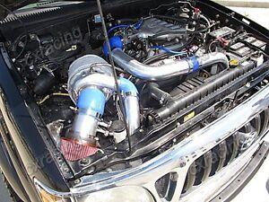 CXRacing Turbo Kit Intercooler Manifold for 95-04 Tacoma 5VZFE 5VZ-FE 5VZ Black