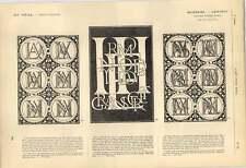 1863 Writings Intwisting Cipher Word Complication Interlacing Palatino Artwork