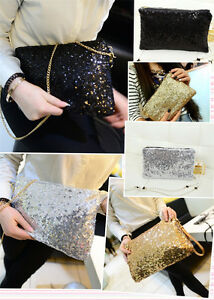 women-large-sparkling-tinsel-sequin-chain-clutch-evening-party-cross-body-bag-uk
