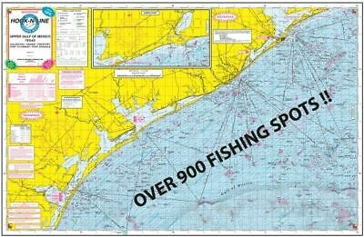 F131 Gulf of Mexico Offshore Waterproof Fishing Map With GPS Numbers