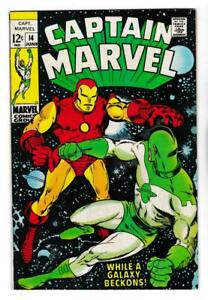 CAPTAIN-MARVEL-14-VF-8-0-vs-IRON-MAN-LAST-12-cent-ISSUE-SHIPS-FREE