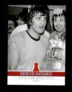 2008-09-Upper-Deck-Montreal-Canadiens-Centennial-268-Serge-Savard-ref-97968
