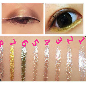 Liquid-Glitter-Eyeliner-Lidschatten-Glaenzend-Wasserdicht-Make-up-Neu