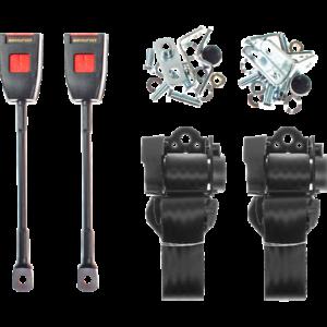 GT6 TR5//250 TR6 TRIUMPH Nero Cintura Kit x2 per TR4//4A Dolomite /& SPRINT