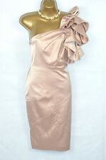 KAREN MILLEN Pink ruffle one shoulder wiggle dress 12