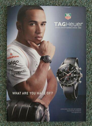 Lewis Hamilton Original Vintage Tag Heuer magazine advert 2007
