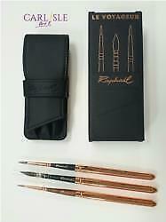 Raphael Set Of 3 Brushes Le Voyageur Travel Wallet