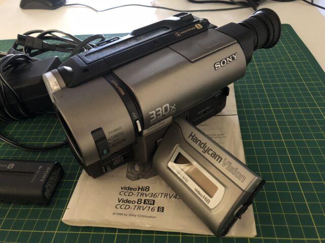 US NTSC Sony Handycam CCD-TRV43 (Hi8/Video8) – 8mm Video Camera/Camcorder