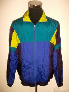 vintage-80s-Nylon-Jacke-Sportjacke-track-sport-jacket-fuer-festival-oldschool-L