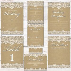 wedding invitations rsvps cards thank you complete wedding